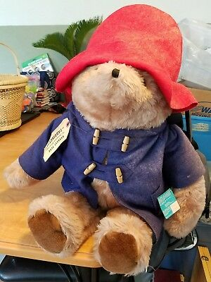 Paddington Bear Stuffed Animal 1983 Eden Darkest Peru to London England 24""
