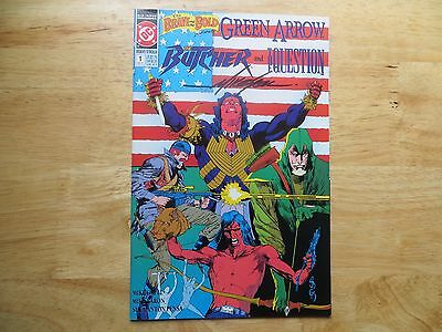 1991 Vintage Dc Comics Brave & The Bold # 1 Green Arrow Signed Mike Grell, Poa