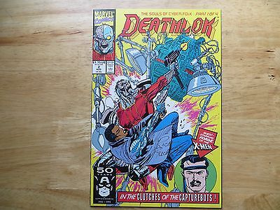 1991 Marvel Comics Deathlok  # 2 X-Men Forge Signed Creator, Rich Buckler
