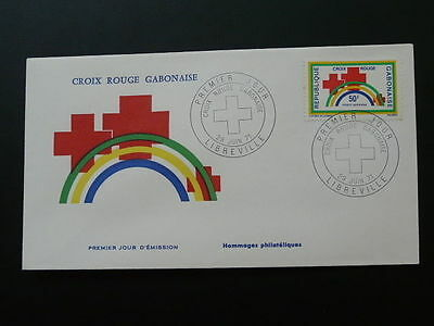 Red Cross FDC Gabon 50225