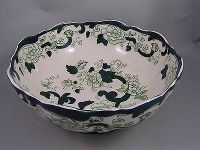 Masons Old Style No Gilding Chartreuse Large Brugge Bowl, (Crazing)