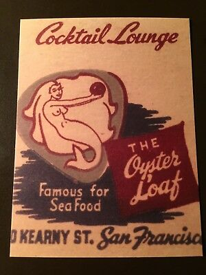 Oyster Loaf Cocktail Lounge - San Francisco, Ca. collectors postcard