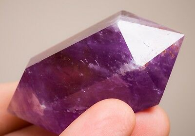 Majestic Lavender Amethyst Dt Crystal With Citrine