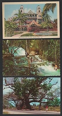 JAMAICA Five postcards, 2 unused