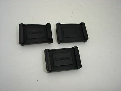 Lot of 3 Canon Camera Eyepiece Viewfinder Covers For 40D, 50D, 60D, 5D, 6D