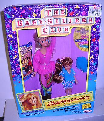 #4782 NRFB Vintage REMCO The Babysitters Club Stacey & Charlotte Dolls