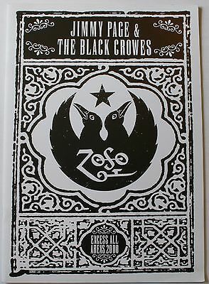 2000 Jimmy Page & The Black Crowes Zoso Concert Tour Program Excess All Areas