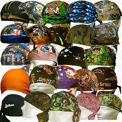 Do Lot Doo Skull Biker Cap Wear Hat Paisley Mens Bandana Du Rag Head Wrap