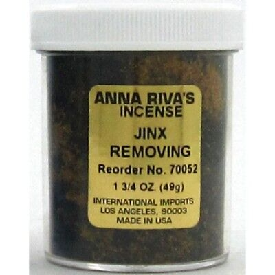 JINX REMOVING INCENSE POWDER ANNA RIVA 49g Wicca Witch Pagan Goth