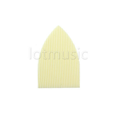100 Pcs Cream ABS Straight Stripes Triangle Truss Rod Cover For Acoustic Guitar