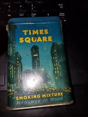 Hard To Find Times Square Tobacco Pocket Tin Smoking Mixture