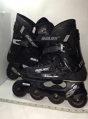 Bauer Street 6 Inline Skates Marked Size 7 Boots L 76MM Wheels 78A Lightly Used