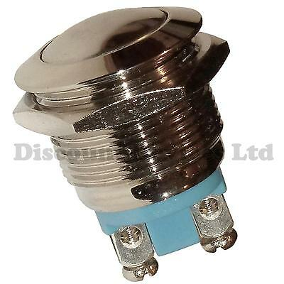 Metal Vandal Proof Momentary Push Button Switch