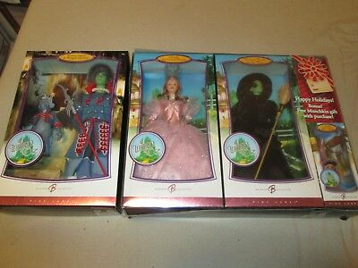 Wizard of Oz Barbie Dolls Pink Label Rare and hard to find pieces LOOK