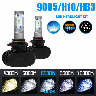 1 Pair 9005/H10/HB3 CSP LED Headlight Car Fog Light Bulb 8000LM White 6500K Kit