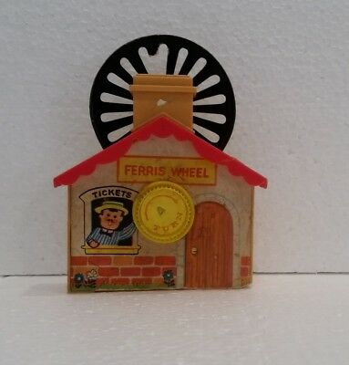 Old Ferris Wheel ticket booth windup part of toy plays Theme from Love Story