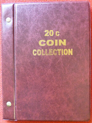 VST AUSTRALIAN 20c COIN ALBUM for 20c COLLECTION 1966 to 2018 - MINTAGES PRINTED