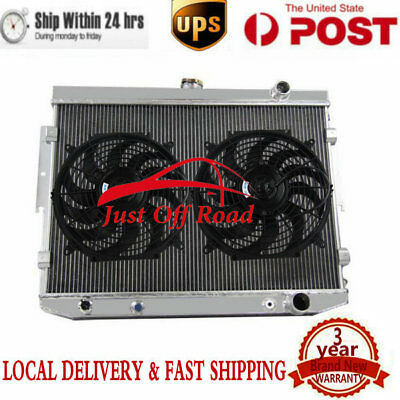 "3Row Alloy Radiator+2x12""Fans FIT Dodge Coronet & Mopar 7.2 440 V8 1973-1976 75"