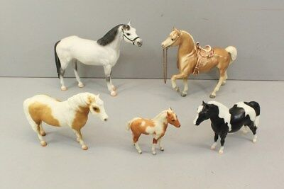 5 Breyer Horses, Traditional w/ VINTAGE 112, Cheyenne Western Saddle + Stormy ++