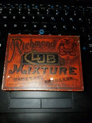 Early Richmond Club Mixture Tobacco Square Tin Cameron Cameron Embossed Version
