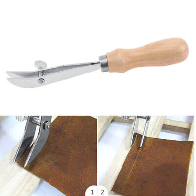 Wood Handle Adjustable Outside Edge Creaser Leather Craft Tool lederwerkzeug Neu