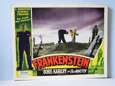 FRANKENSTEIN 1951 Realart rr Lobby Card GRAVE ROBBERS DWIGHT FRYE COLIN CLIVE