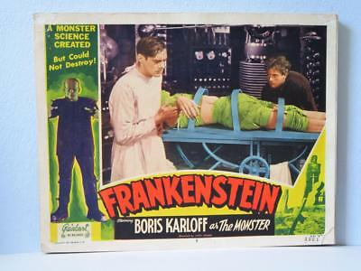 FRANKENSTEIN 1951 Realart rr Lobby Card LAB w/ DWIGHT FRYE COLIN CLIVE MONSTER