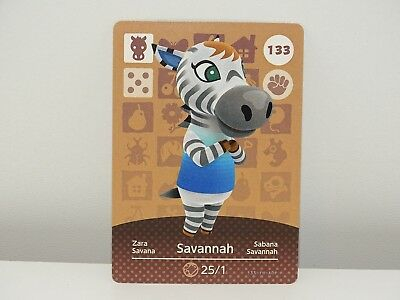 Amiibo Animal Crossing Card Savannah Zara no. 133 Top