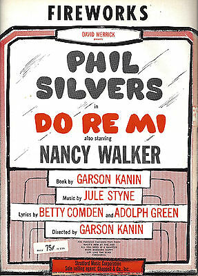"Phil Silvers ""DO RE MI"" Jule Styne / Comden and Green 1960 Broadway Sheet Music"