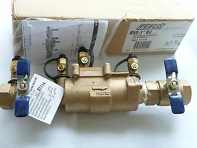 "New FEBCO 850 - 1"" BV Double Check Valve Assembly Backflow Preventer DCA No Box"