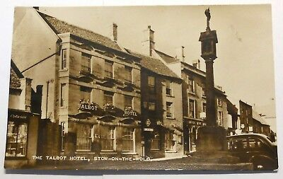 POSTCARD -  STOW-ON-THE-WOLD, GLOUCESTERSHIRE - TALBOT HOTEL 1940s