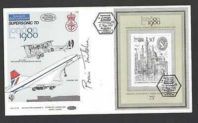 London 1980 Benham Concorde flown first day cover signed Brian Trubshaw