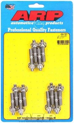 """ARP Header Stud 1.750"""" 12 Point Nuts Polished GM LS 12 pc P/N 434-1301"""