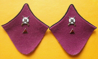 Russian collar tabs on an overcoat of the lance sergeant of infantry (1943-1947)