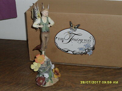 Collectible World  Fairy Way Figurine By Michael Talbot - Thistlefoot - New