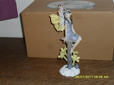 Collectible World  Fairy Way Figurine By Michael Talbot - The Winter Fairy - New