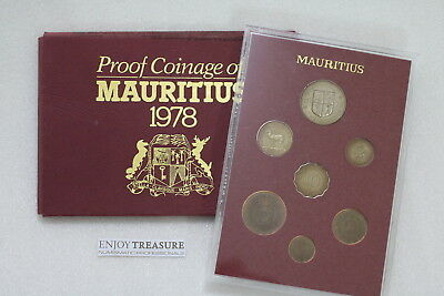 Mauritius 1978 Proof Set Damaged Outer Paper A71 Cg29