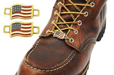 USA Flags Shoes Boot Lace Keeper US American Union Workers