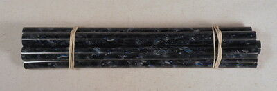 Beautiful rare lot of galalith blue marbled 5 rods 170 grams