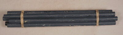 Beautiful rare lot of galalith blue dark marbled 8 rods 200 grams