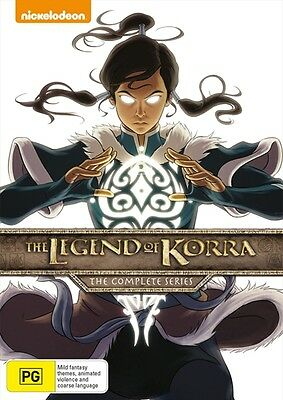 The LEGEND of KORRA : Complete Series : Book 1 2 3 4 : NEW DVD