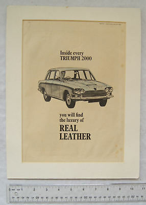 1968 advert for Triumph 2000