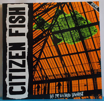CITIZEN FISH Free Souls... Original UK LP - Anarcho Punk Subhumans Culture Shock