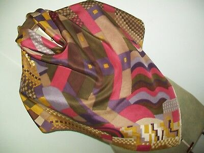 Liberty Bauhaus Print Design Vintage Silk Scarf. Possibly Homemade