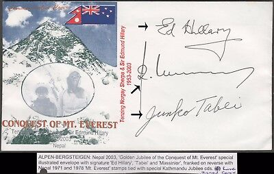 Nepal Rare Hilary / Sherpa / Tabei Signed Expedition Cover