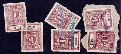 CHESHIRE LINES COMMITTEE: 1d Railway Newspaper & Parcel Stamps - Used
