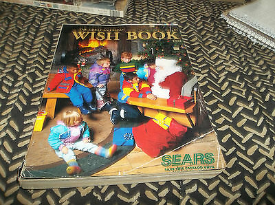 Vtg 1992 Sears Christmas Toy Wish Book Catalog - 241 pages of Toys & Kid Stuff