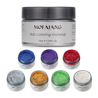 Unisex DIY Hair Color Wax Mud Dye Cream Temporary Modeling 7 Colors USPS
