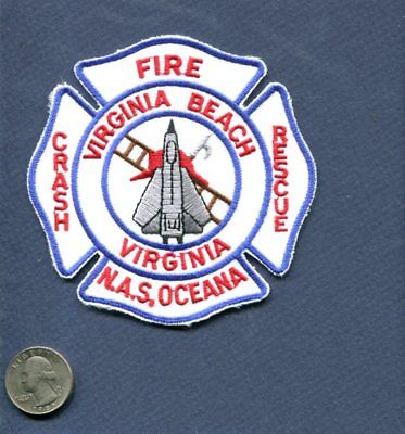 NAS NAVAL AIR STATION OCEANA CRASH FIRE RESCUE US Navy F-14 Squadron Base Patch