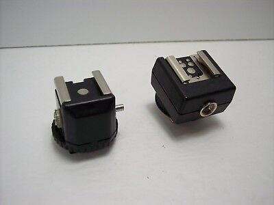 Hot Shoe Adapter and Speed Light Foot Adapter PC Sync Socket for Cannon Nikon